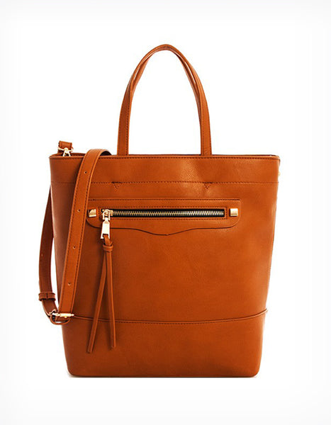 Brandy Bucket Handbag in Cognac