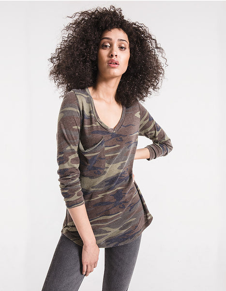 Favorite Long Sleeve Tee in Camo