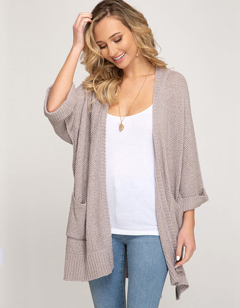 Come And Go Pocket Cardigan