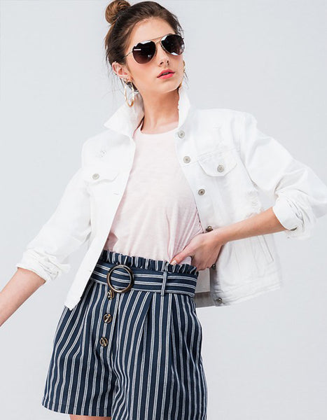 Standard White Denim Jacket