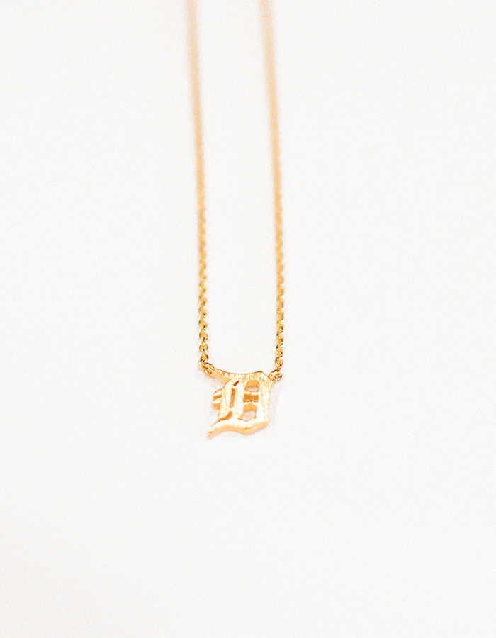 Detroit Pendant Necklace (Gold, Silver, or Rose Gold)