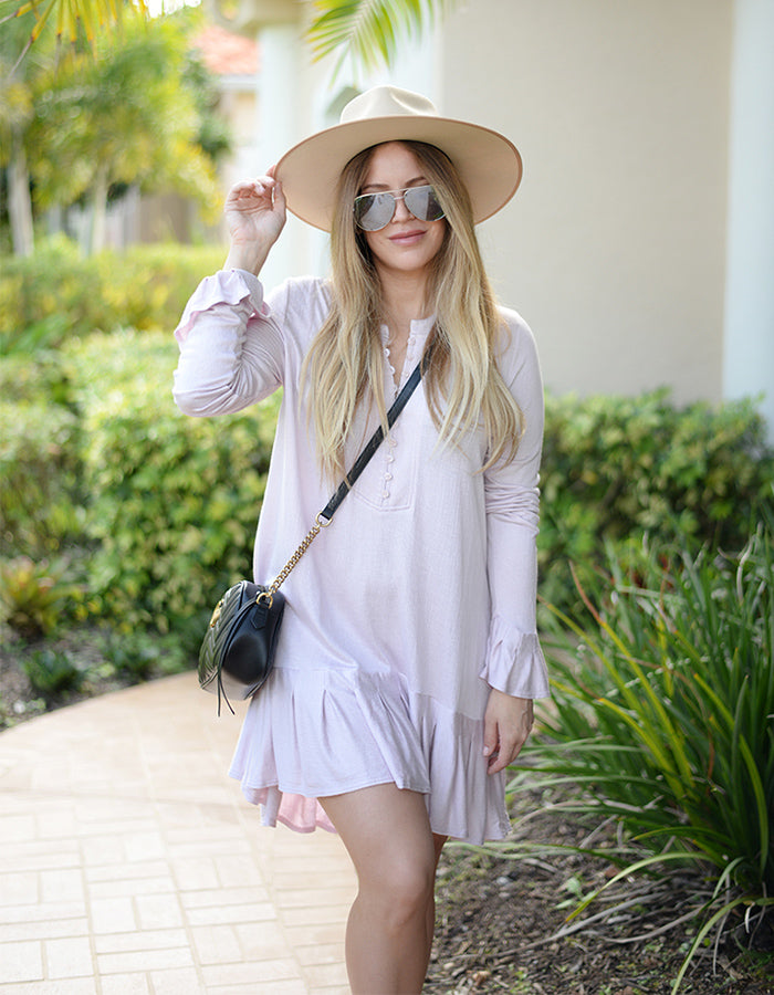 Free People Your Girl Tunic in Lavendar
