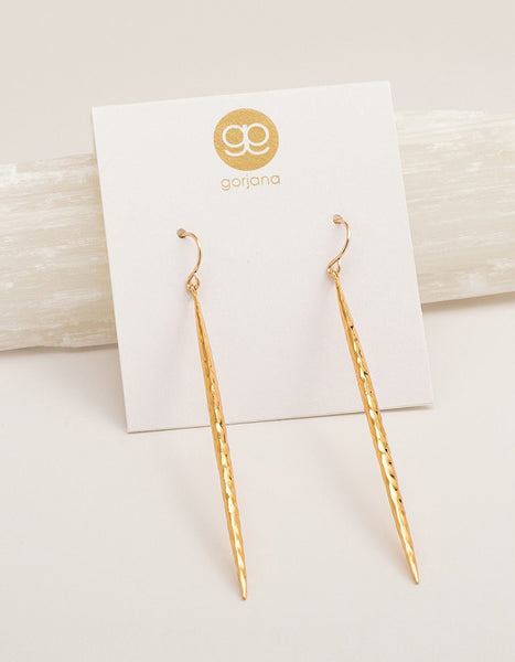 Gorjana Nora Dagger Drop Earrings (Gold or Silver)