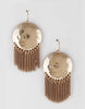 Vagabond Hammered Disc Earrings (Gold, Rose Gold or Silver)