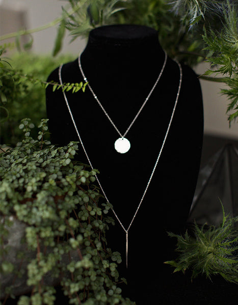 Lauren Hammered Disc Necklace