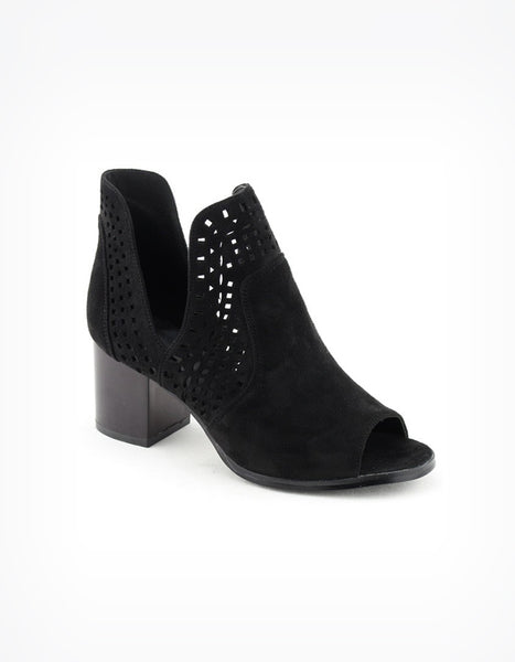 (ONLY 1 LEFT!) Jessa Perforated Peep Toe Booties