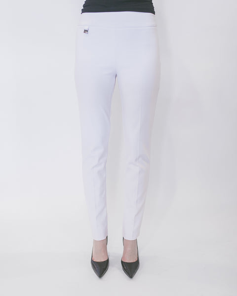 (ONLY 1 LEFT!) Tab Dress Pants in White by Joseph Ribkoff