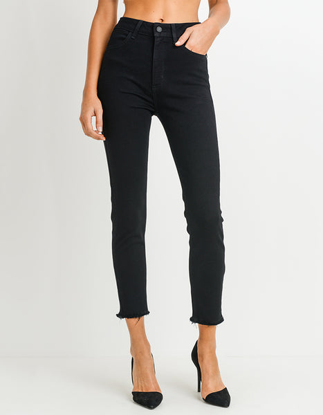 Just Black Ultra High Rise Ankle Jeans