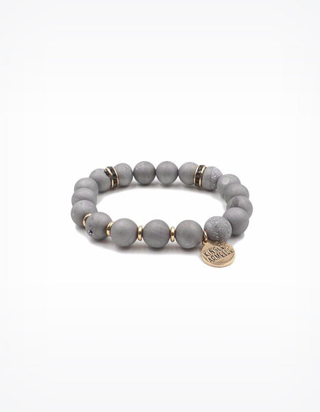 Kinsley Armelle Geode Slate Stone Bracelet (sold out)