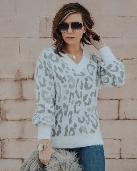(ONLY 1 LEFT!) Harper Leopard Sweater