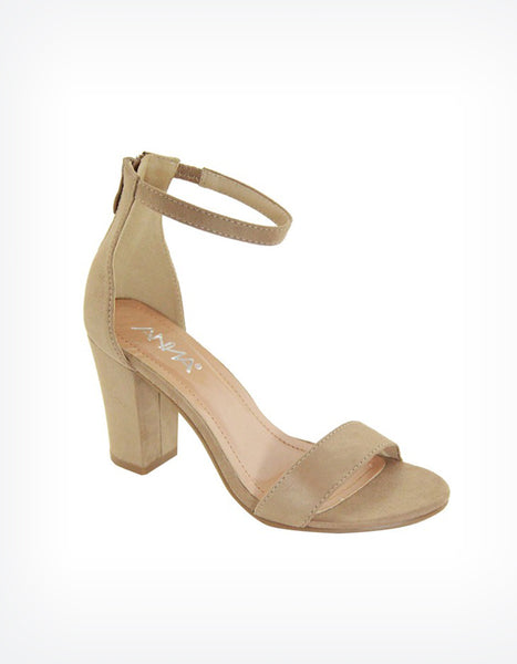 Libra Ankle Strap Heels in Nude