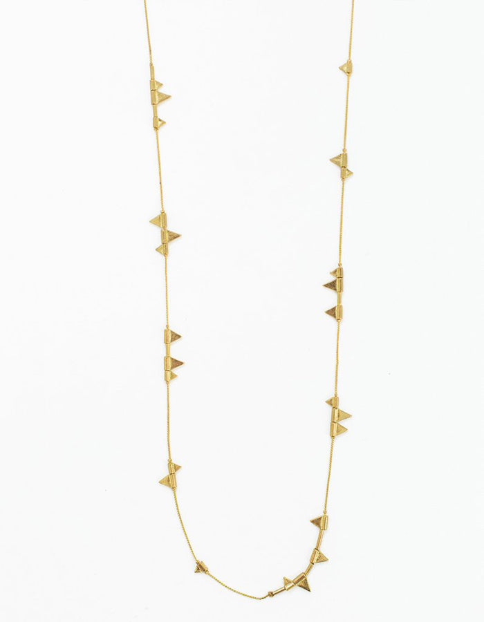 Zander Long Necklace (Gold or Silver)