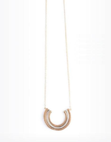 Mata Traders Curved Lines Necklace