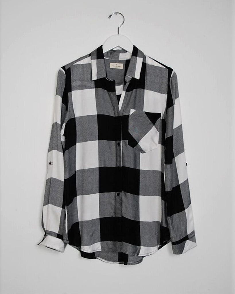 Oliver Plaid Shirt - Black/White