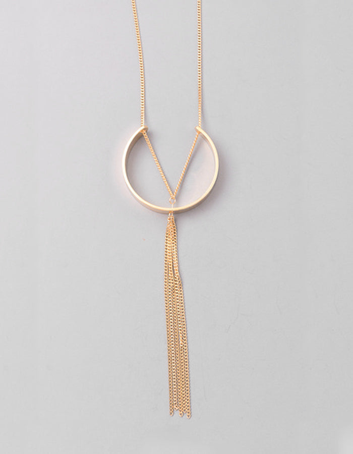 Sia Chain Long Necklace (Gold or Silver)