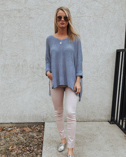 (ONLY 1 LEFT!) Ocean Eyes Knit Tunic Sweater