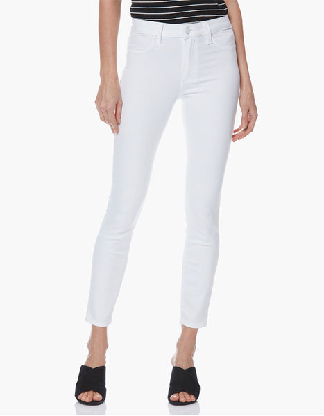 Paige Hoxton High Rise Ankle Skinny in White