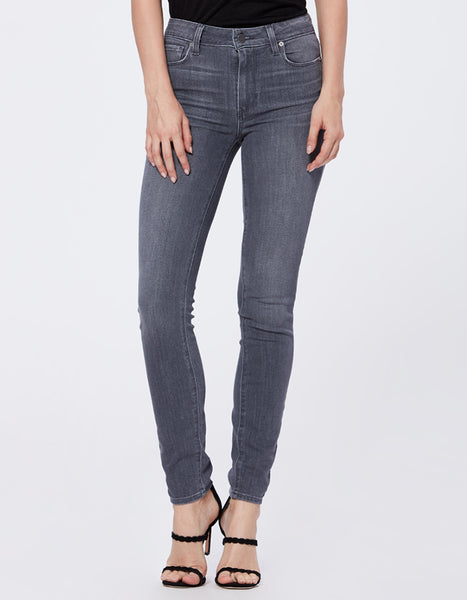Paige Hoxton High Rise Skinny in Silver Dollar