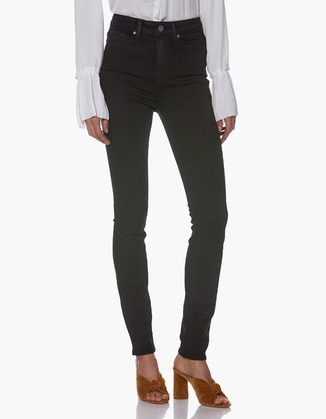Paige Margot High Rise Skinny in Black Shadow