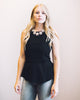 Lovely Lady Peplum Top in Black