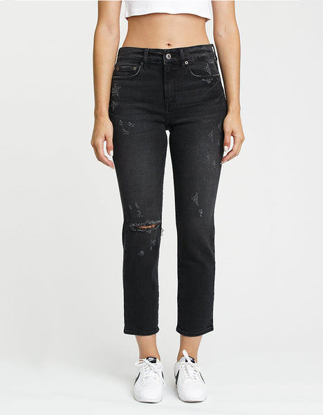 Pistola Denim Monroe High Rise in Shadows