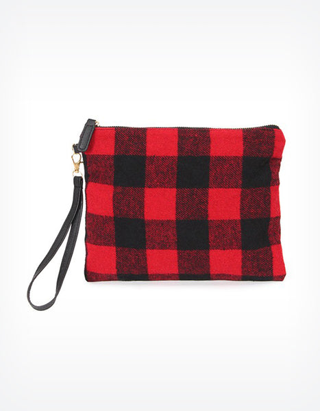 Aila Plaid Clutch Wristlet