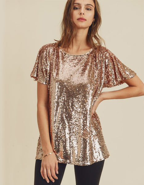 Shine On Sequin Top