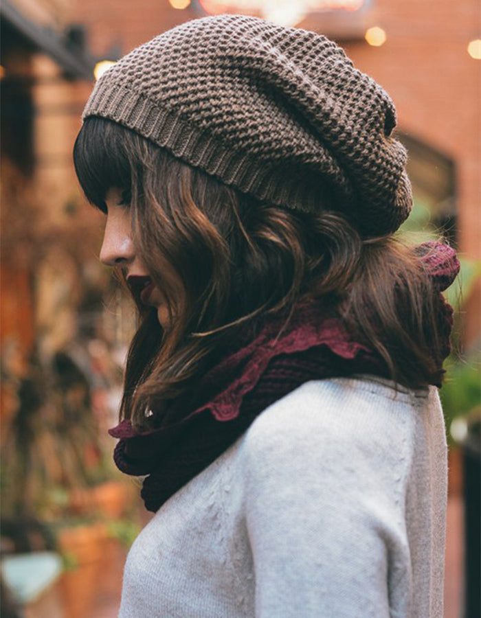 Mischief Slouchy Knit Hat (Gray or Black) – Sparrow Boutique 4b4c4a30753