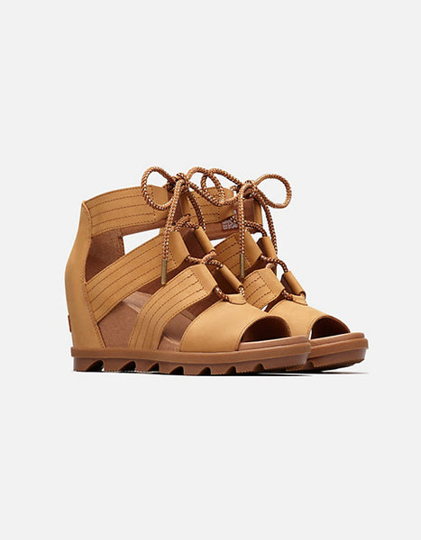 (FLASH SALE!) Sorel Joanie II Lace Sandal in Camel Brown