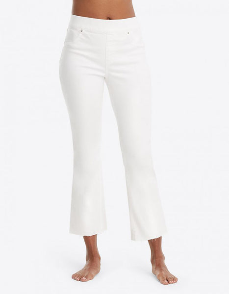 Spanx Crop Flare Jeans in White