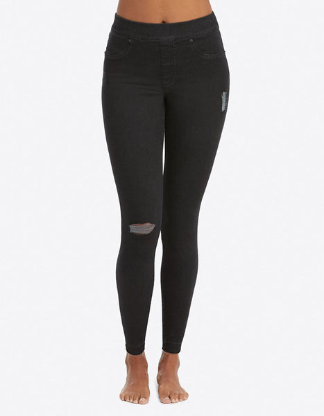 Spanx Jean-ish Leggings in Distressed Black