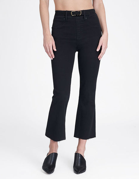 Spanx Crop Flare Jeans in Black