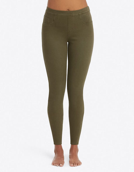 Spanx Jean-ish Leggings in Olive
