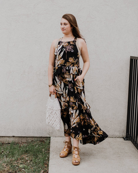 Free People Anita Floral Maxi Dress