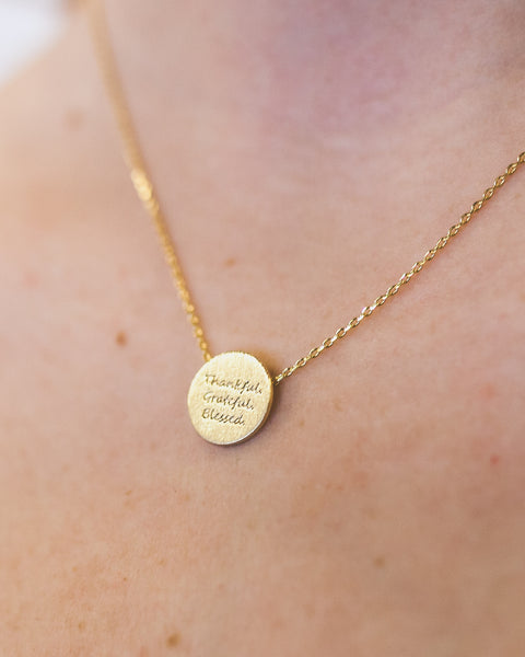 Thankful Necklace in Gold or Silver (sold out)