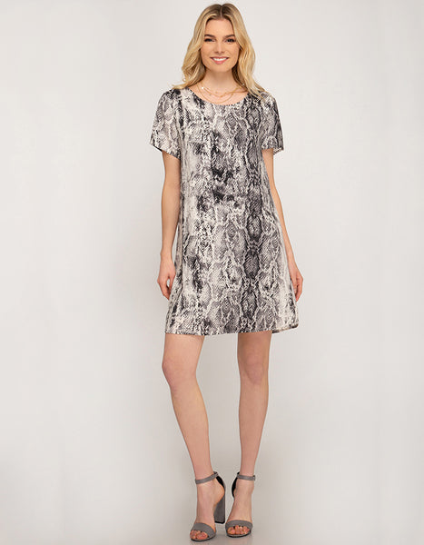 Real Deal Snake Print Dress