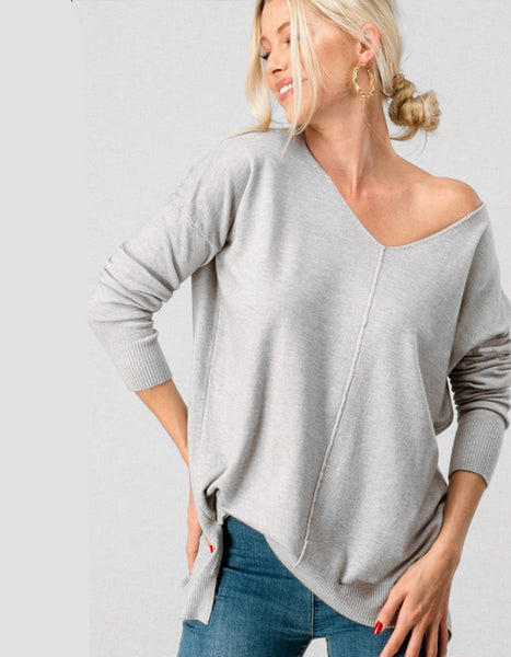 Carry On Tunic Sweater in Grey