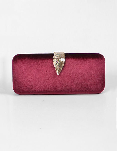 Love It Or Leaf It Clutch (Wine or Black)