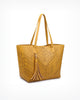 Wanderlust Perforated Bucket Shoulder Bag (Tan or Mustard)