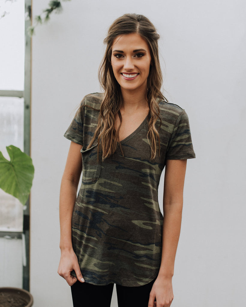 (ONLY 1 LEFT!) Favorite Tee in Camo