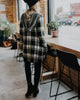 Fran Hood Plaid Cardigan