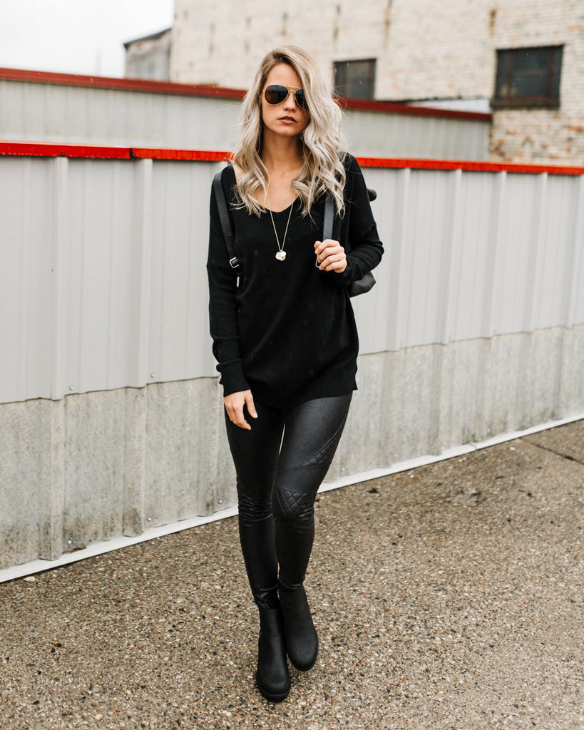 Carry On Tunic Sweater in Black