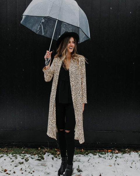 Harlow Leopard Long Cardigan Jacket