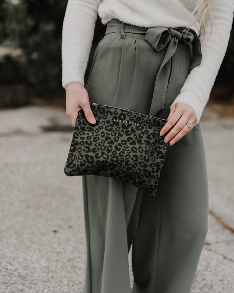 Sanctuary Top Zip Leopard Bag