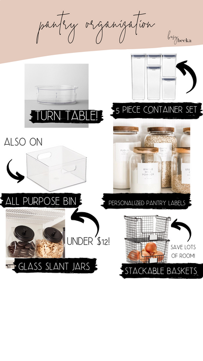 Pantry Organization Must-Haves!