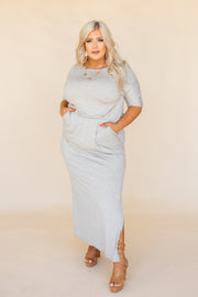 Rebecca: The Label - Alison Dress - Heather Grey