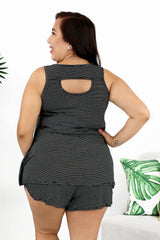 Lounge by Kiki LaRue: Aspen Tank - Black/White