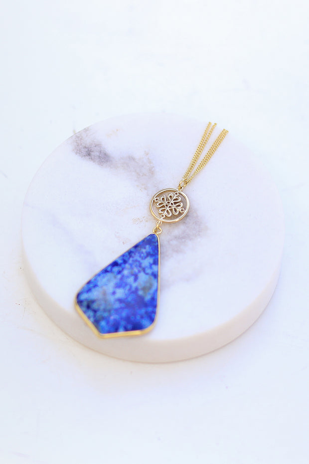 Kiki LaRue Collection: Blue Lapis Lazuli Necklace