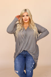 Kiki LaRue Aviana Grey Crossover High Low Top
