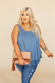 Bessie Blue Double Layered Tank